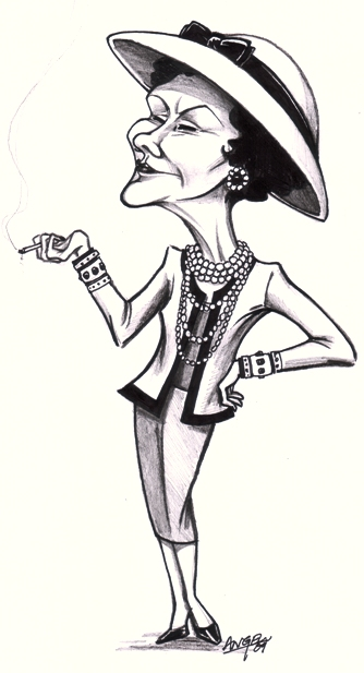 Thought i'll illustrate a carricature of Chanel :)