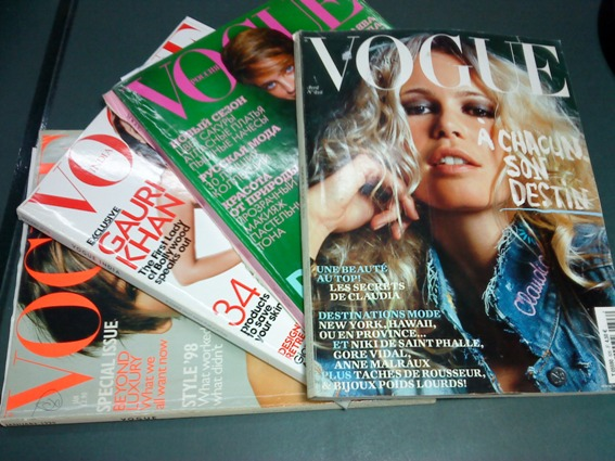 my old vogue magazines
