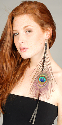 edressme earrings peacock