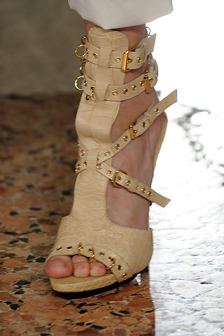 Skin coloured shoes from Emilio Pucci spring 2010