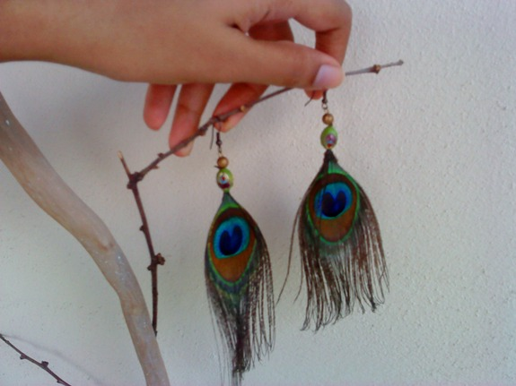the lovely peacock earrings from India