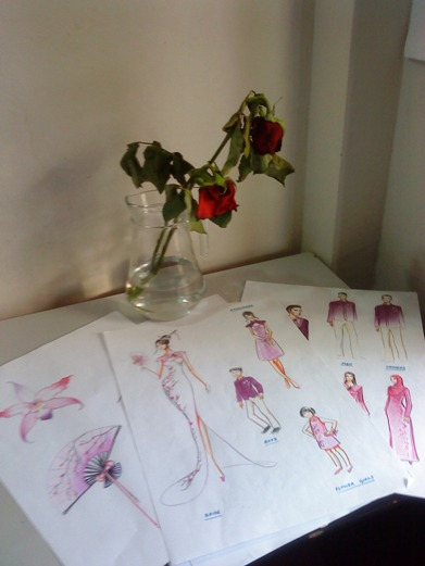the final set of sketches i prepared to show them - they were finalised after sketching hundreds more!