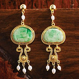 last emperor vintage jade earrings