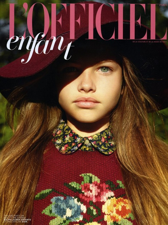 On the cover of L'Officiel enfant