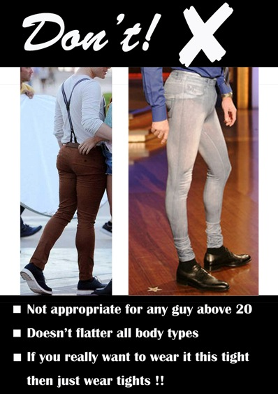 how to know if your jeans are too skinny guys